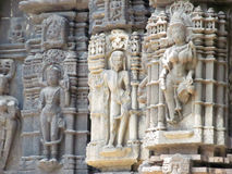 Statues of hindu god. Its photo of statues of hindu god place - Ambreshwar temple, India stock image