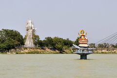 Statues of Hindu gods Ganga and Shiva in Haridwar Royalty Free Stock Images