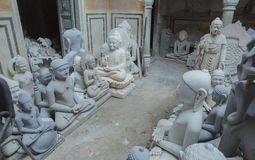 Statues of Hindu Gods and Goddess. Crafts and Arts of India. Mur Royalty Free Stock Images