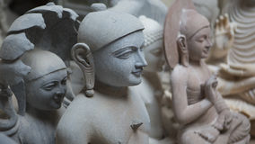 Statues of Hindu Gods and Goddess. Crafts and Arts of India. Mur Royalty Free Stock Photography