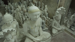 Statues of Hindu Gods and Goddess. Crafts and Arts of India. Mur Royalty Free Stock Photo