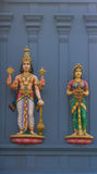 Statues of Hindu gods Vishnu and Lakshmi Stock Images