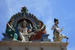 Statues in Hindu Temple. Normally telling a lot of stories Royalty Free Stock Photos