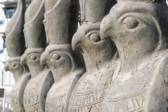 Statues of Horus on a street Hurghada Egypt Royalty Free Stock Photos