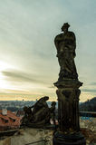 The statues. In Hradchany, Prague Royalty Free Stock Images