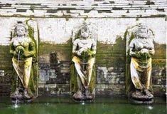 Statues inside Goa Gajah Temple Bali Indonesia Stock Image