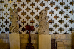 Statues inside the mosque Cathedral of Cordoba, Spain, Europe. 2 white statues inside of Mezquita,Mezquita de Córdoba,the Great Mosque of Córdoba, Mosque Stock Image