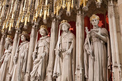 Statues inside Yorkminster Royalty Free Stock Photos