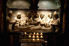 Statues in Interior of St. Michael Cathedral Stock Photography