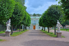 Statues at Italian Cottage in Kuskovo estate in Moscow Stock Photo