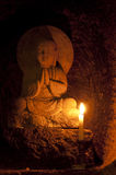 Statues of japanese monk Jizo Stock Images