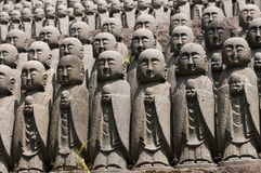 Statues of japanese monk Jizo Royalty Free Stock Image