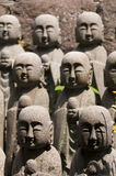 Statues of japanese monk Jizo Royalty Free Stock Photos