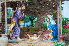 Statues of Jesus, the baby and the woman Stock Photography