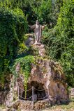 Statues of Jesus Christ in the courtyard of the Abbazia delle Tre Fontane, in the martyrdom of the apostle Paul in Rome, Italy Royalty Free Stock Photo