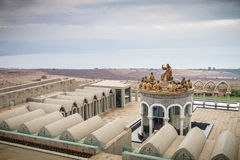 The statues of Jesus and Twelve Apostles, Domus Galilaeae in Israel Royalty Free Stock Photography