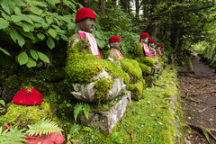 Statues of Jizo in Nikko park Royalty Free Stock Photos