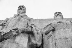 Statues of John Calvin and Theodore de Beze. Stock Photography