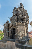 Statues of John of Matha, Felix of Valois and Saint Ivan, Charles Bridge, Prague Stock Photography