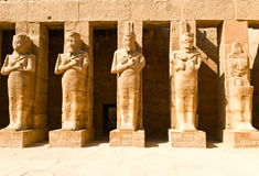 Statues in Karnak temple royalty free stock photos