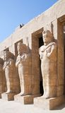 Statues in Karnak temple Stock Photos