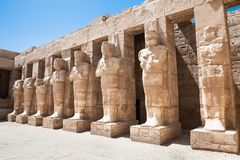 Statues in karnak temple. Complex In Luxor, Egypt stock photo