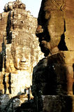 Statues at Khmer temple- Angkor Wat ruins Stock Photo
