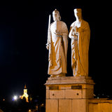 Statues of King Stephen I and Queen Gisela Stock Image