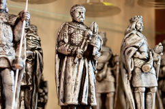 Statues of the kings Stock Photography