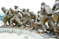 Statues at The Korean War Memorial Museum, Seoul Royalty Free Stock Photos