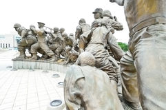 Statues at The Korean War Memorial Museum, Seoul Stock Photography