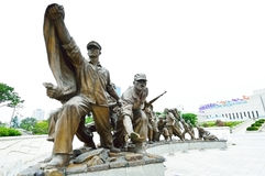 Statues at The Korean War Memorial Museum, Seoul Royalty Free Stock Images