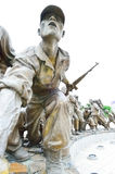 Statues at The Korean War Memorial Museum, Seoul Stock Photos