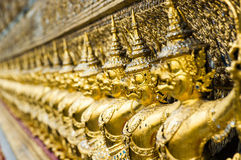 The statues of Krut battling naga serpent, a Thai Buddhist adapt Stock Photos