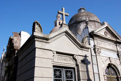 Statues in La Recoleta Cemetery Royalty Free Stock Image