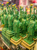 Statues of Liberty on the shelf in the gift shop Royalty Free Stock Images