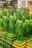 Statues of Liberty on the shelf in the gift shop Royalty Free Stock Image