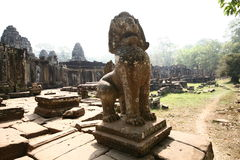 The statues lion of  Angkor Temples, Cambodia Royalty Free Stock Image