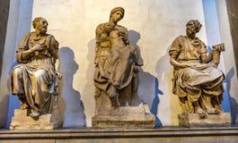 Statues Lorenzo Tomb Chapel San Lorenzo Medici Church Florence Italy royalty free stock photos