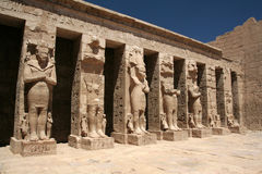 Statues in Luxor Temple. Monumental statues in Luxor temple, Egypt Stock Photos