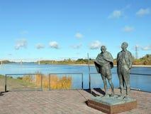Statues of Mahatma Gandhi and Hermann Kallenbach Stock Photos