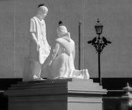 Statues at Mazatlan Cathedral Royalty Free Stock Image