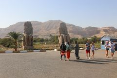 Statues of Memnon royalty free stock image