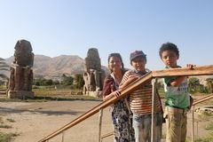 Statues of Memnon stock photo