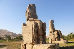 Statues of Memnon stock images