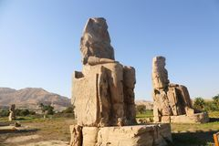 Statues of Memnon stock image