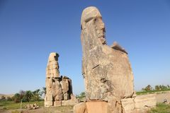 Statues of Memnon royalty free stock photo