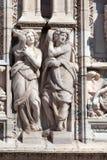 Statues on the Milan's Duomo facade Stock Image