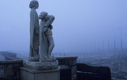 Statues in the mist Royalty Free Stock Photos