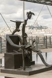 Statues at the Modern Art Pompidou. PARIS - SEPTEMBER 02: One of the over 100,000 works exposed at the Centre Georges Pompidou in Paris, France on September 2nd royalty free stock photography